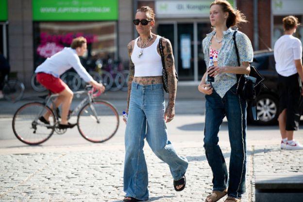 гости недели моды в Копенгагене, август 2020