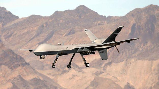 Imagen del dron en el aire.