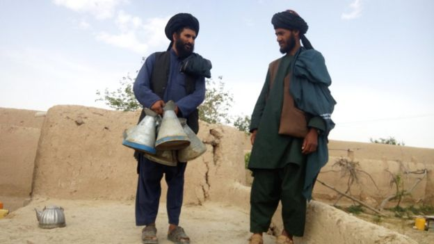 The Taliban mayor of Sangin, clutching petrol jugs