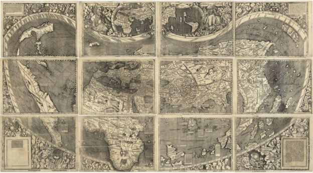 Mapa que incluye la palabra América.