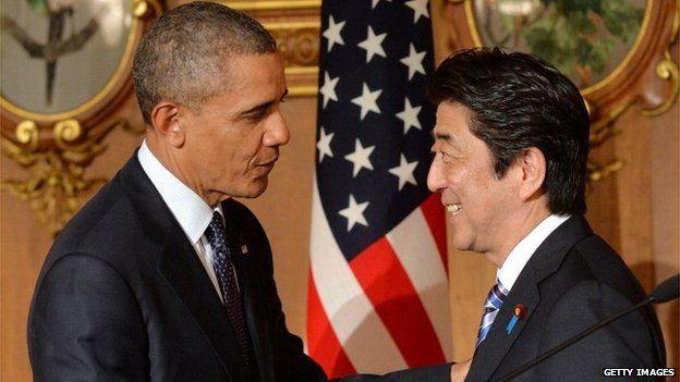 Barack Obama and Shinzo Abe