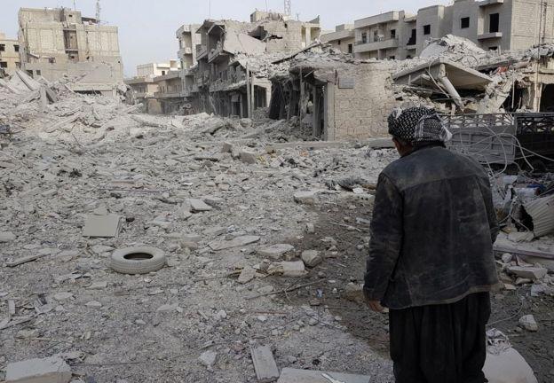 Afrin'deki yıkım