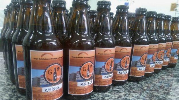 Cervejas engarrafadas artesanalmente no GCERVA