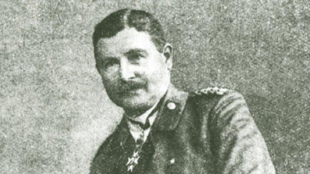 """Начальник штаба группы армий """"Киев"""" генерал Гренер, в кабинете которого на Липках состоялось заседание 24 апреля 1918"""