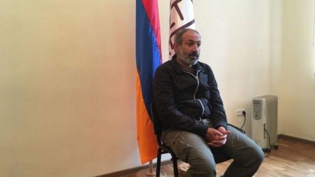 Ermənistan müxalifətinin lideri Nikol Paşinyan