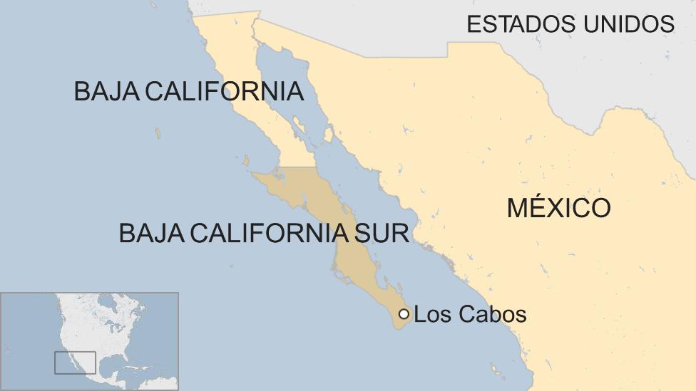 Mapa Los Cabos, Baja California Sur, México