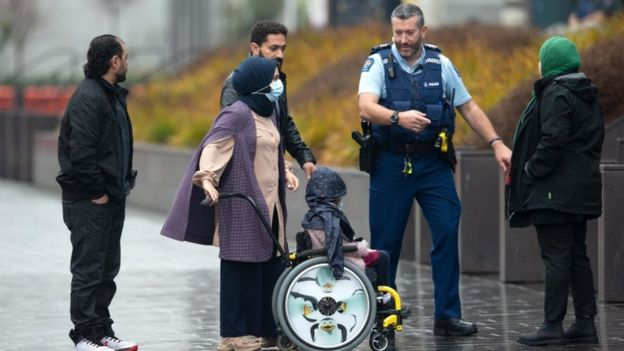 Relatives of victims arrive at Christchurch High Court, 24 August 2020