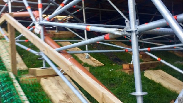 Scaffolding Pic: Angie Brown