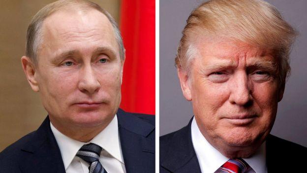 Trump ve Putin kolajı