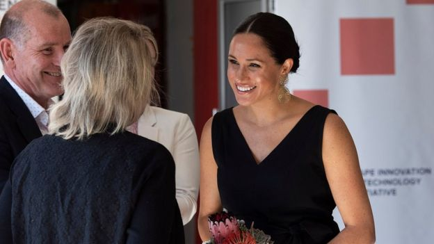 The Duchess of Sussex meeting female entrepreneurs in Cape Town