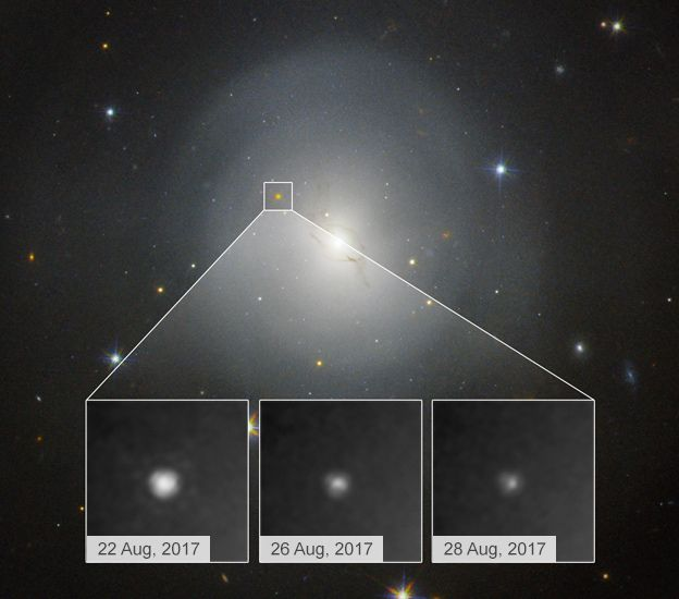 Hubble's view of the event