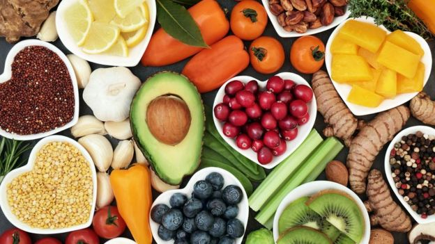 Várias frutas