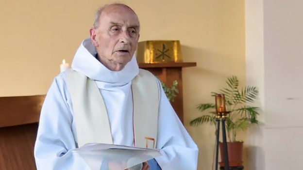 A photo of Priest Jacques Hamel taken from the website of Saint-Etienne-du-Rouvray parish