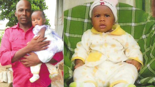 L: Precious and her father R: Precious as a baby