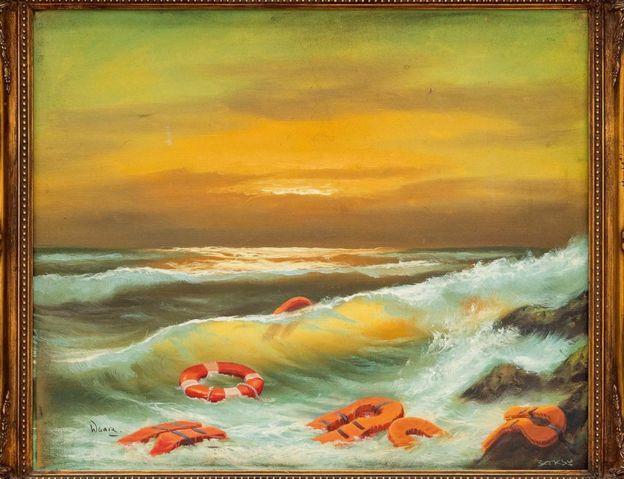 إحدى اللوحات الثلاث لبانكسي