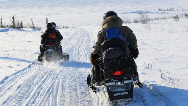 Pista de hielo en Inuvialuit.