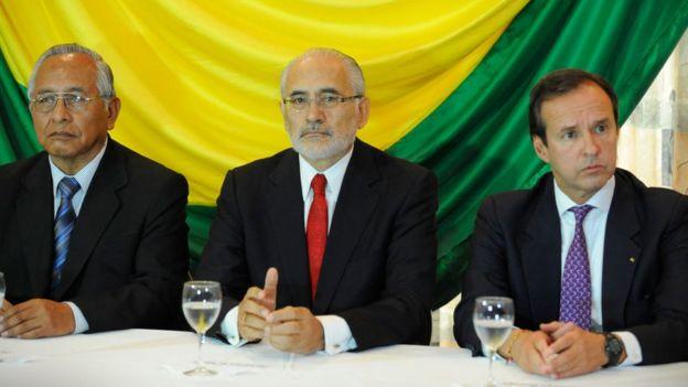 Líderes de oposición en Bolivia