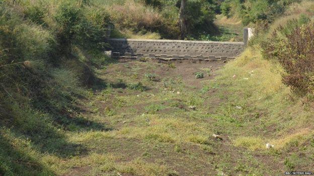 An under-construction dam in Maharashtra
