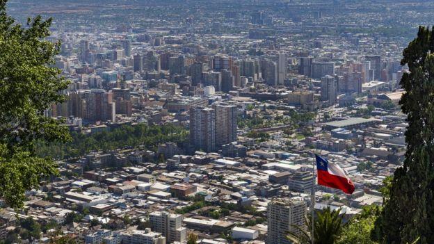 Una panorámica de Santiago de Chile