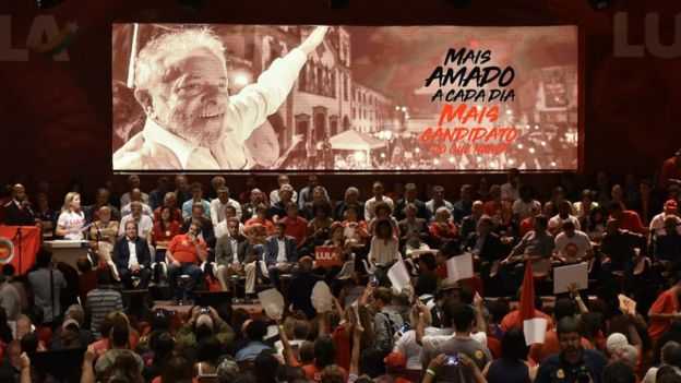 The Minas Gerais launch of Lula's pre-nomination presidential campaign on 8 June 2018