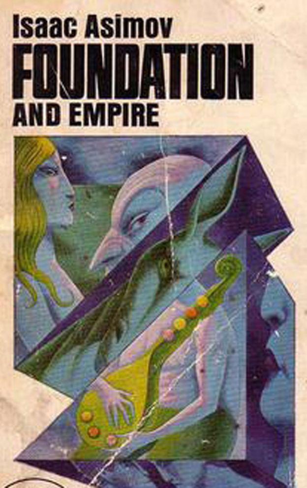 El Mulo en la portada de un libro.