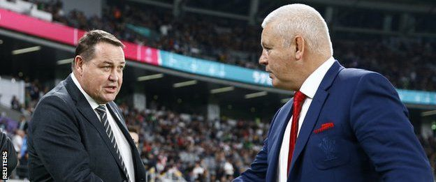 New Zealand coach Steve Hansen and Wales boss Warren Gatland were both overseeing their last games in charge