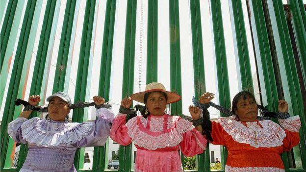 Protesta de mujeres en México.