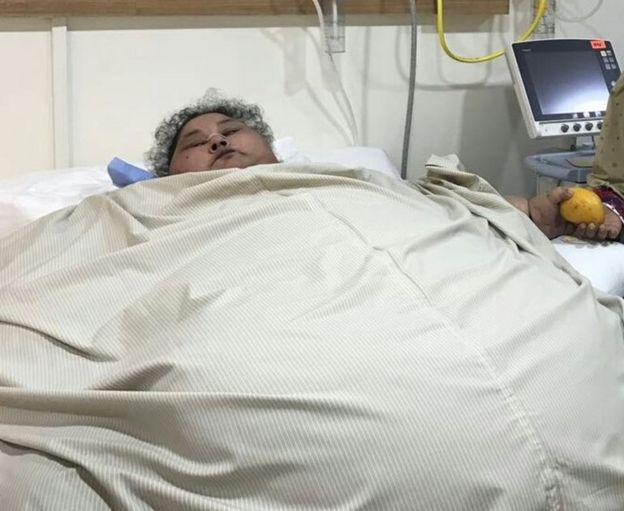 Abd El Aty no hospital, 100 quilos mais pesada