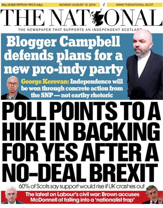 Scotland's papers: Labour 'crisis summit' and Epstein claims - BBC News