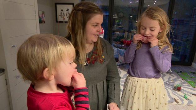 Anna Soutocon su familia