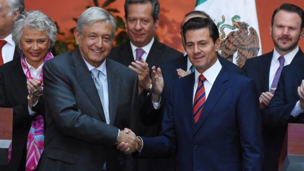 AMLO y Enrique Peña Nieto