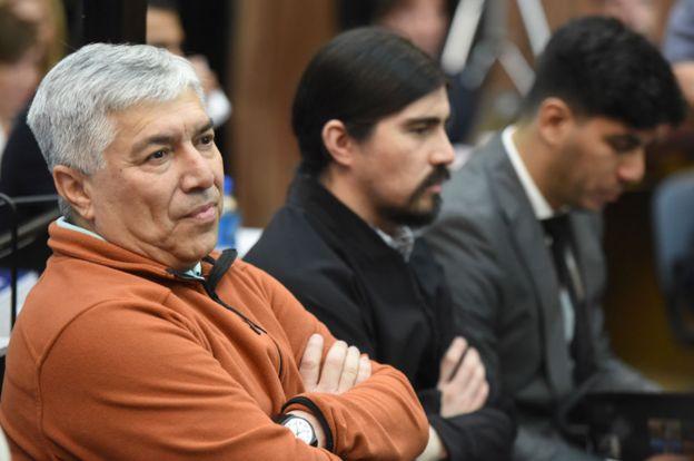 Lázaro Báez durante su juicio