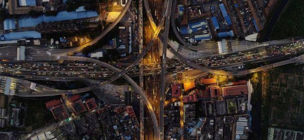 Vista aérea de Cantón