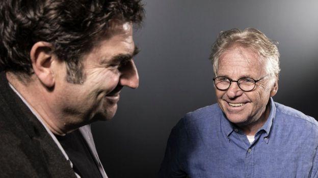 مخرج الفيلم رومين غوبيل (يسار) والسياسي دانييل كون-بينديت