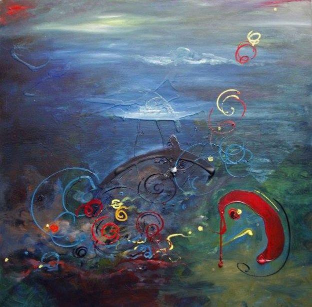 Tranh 'Journey of the Half Questions' của Jenny Đỗ, 2008. Sưu tập của Doan Trang và Cuong Tran