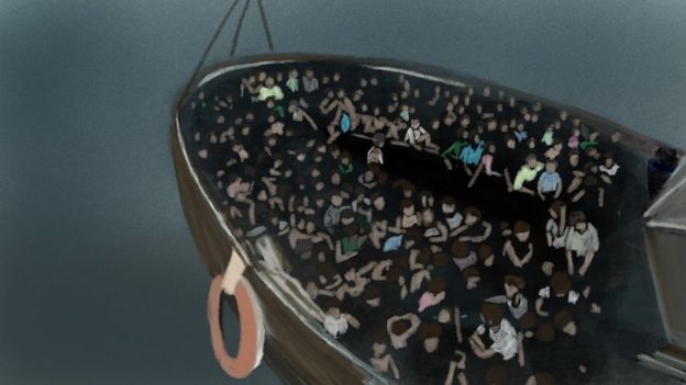 The rohingya refugee boat was carrying people to Malaysia
