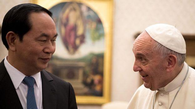 Cố Chủ tịch nước VN Trần Đại Quang gặp Giáo Hoàng Francis tại Vatican năm 2016