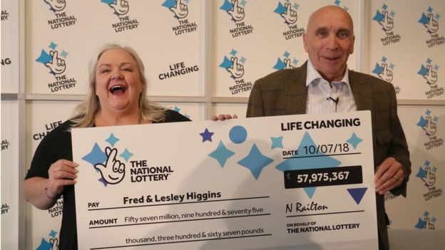 Ripped-up lottery ticket wins £58m jackpot - BBC News