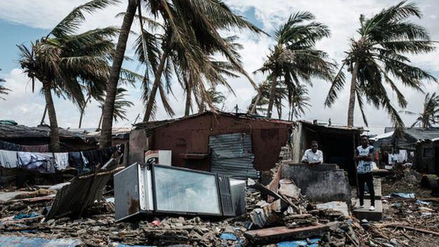 Casas destrozadas