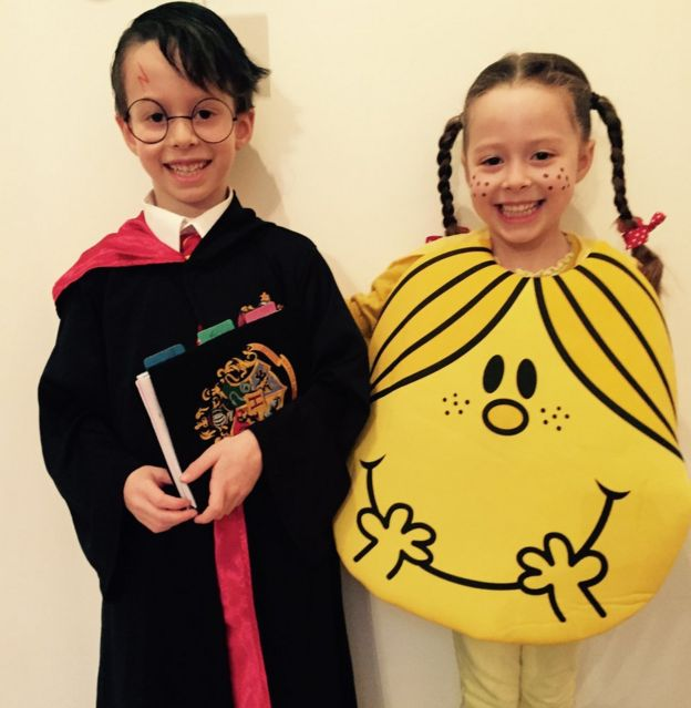 oliver and summer from hampshire in england love books oliver even got his hair sprayed - Little Miss Sunshine Halloween Costume