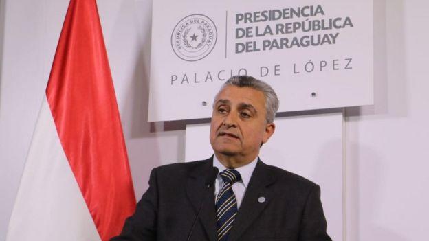 El ministro del Interior de Paraguay, Juan Ernesto Villamayo