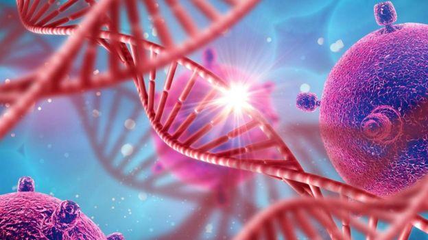 صورة علمية لحركة الجينات