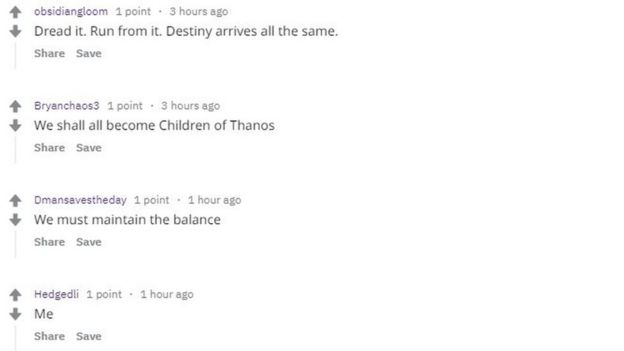 Avengers' Thanos sparks biggest ban in Reddit history - BBC News