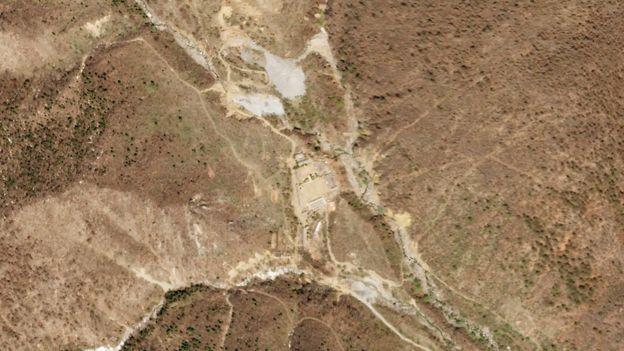 朝鮮豐溪里核試驗場衛星圖像