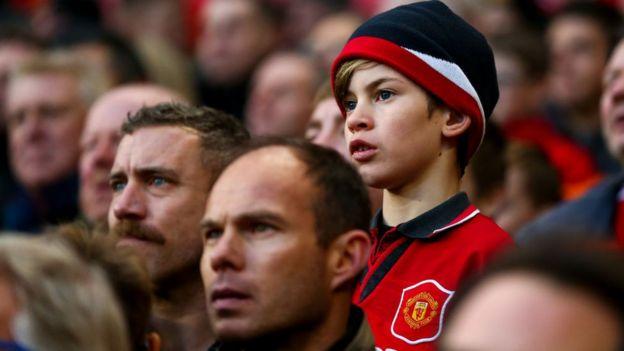 Aficionados del Manchester United.