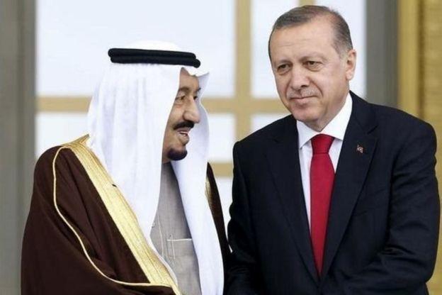 Suudi Arabistan Kralı Selman bin Abdulaziz ve Cumhurbaşkanı Recep Tayyip Erdoğan