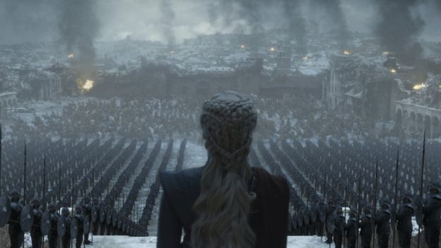Daenerys Targaryen en el capítulo 6 de la temporada 8 de Game of Thrones.