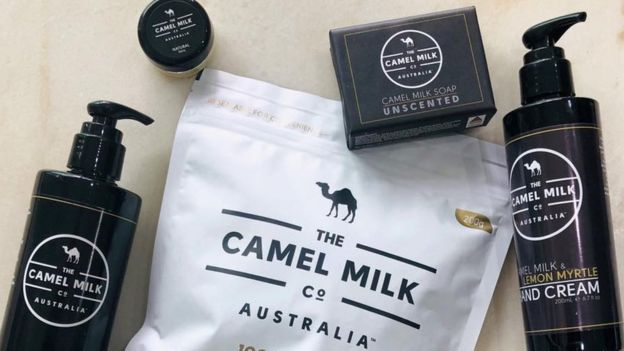Skincare products made from camel milk