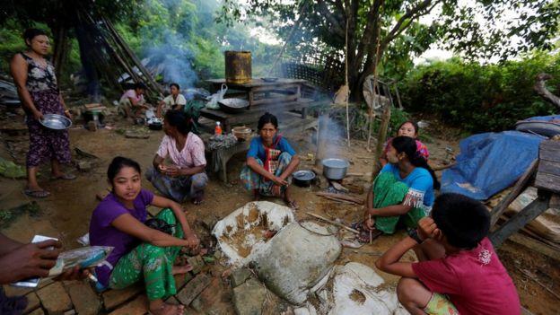 Ethnic Rakhine People Who Fled From Maungdaw After Arakan Rohingya Salvation Army Arsa Had