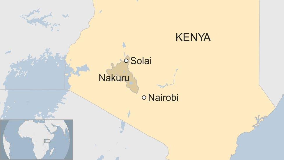 Kenya Solai map